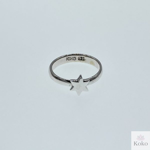 star sterling silver ring stacking ring