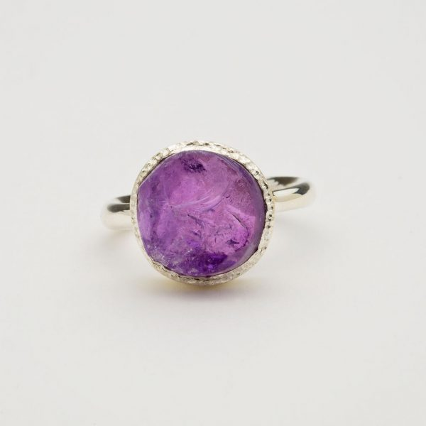 amethyst ring front view