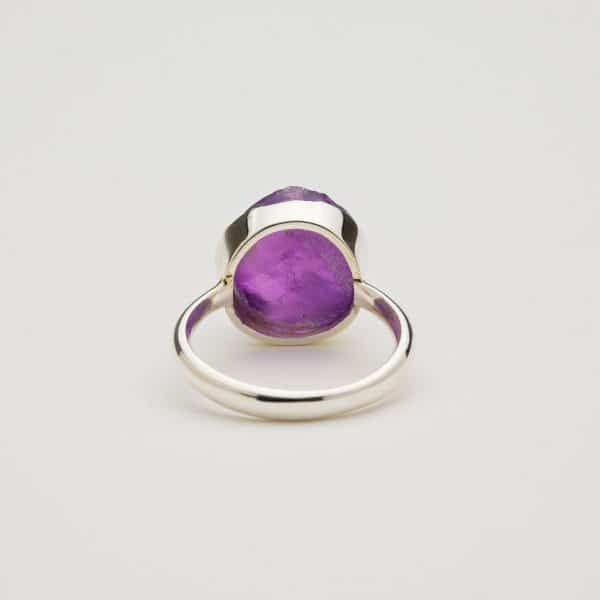 Amethyst ring back view