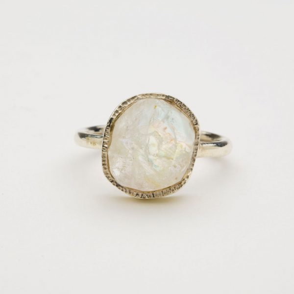 moonstone ring front view