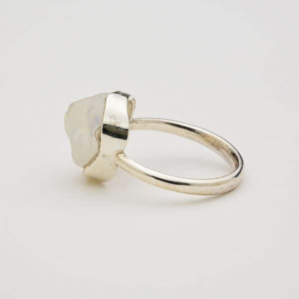 moonstone ring side view