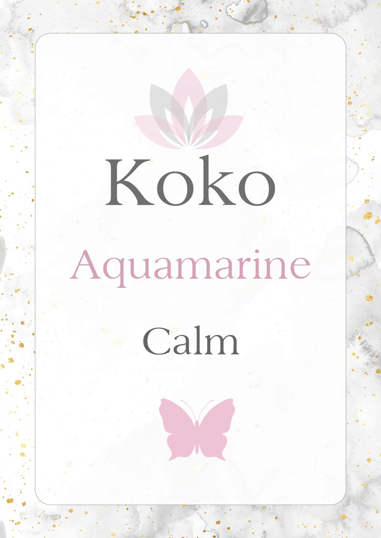 Aquamarine Gemstone meaning calm