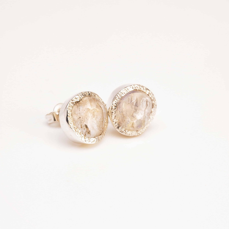 moonstone stud earrings