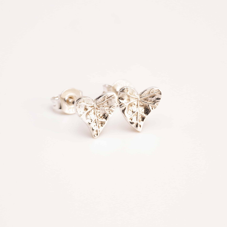 leaf heart earrings