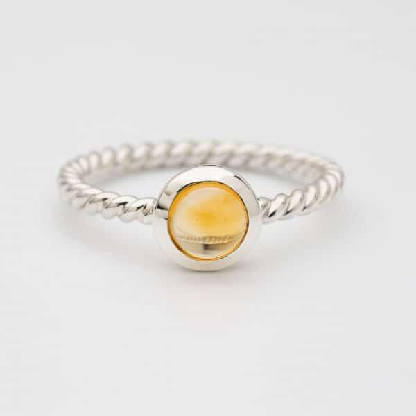 citrine polished ring