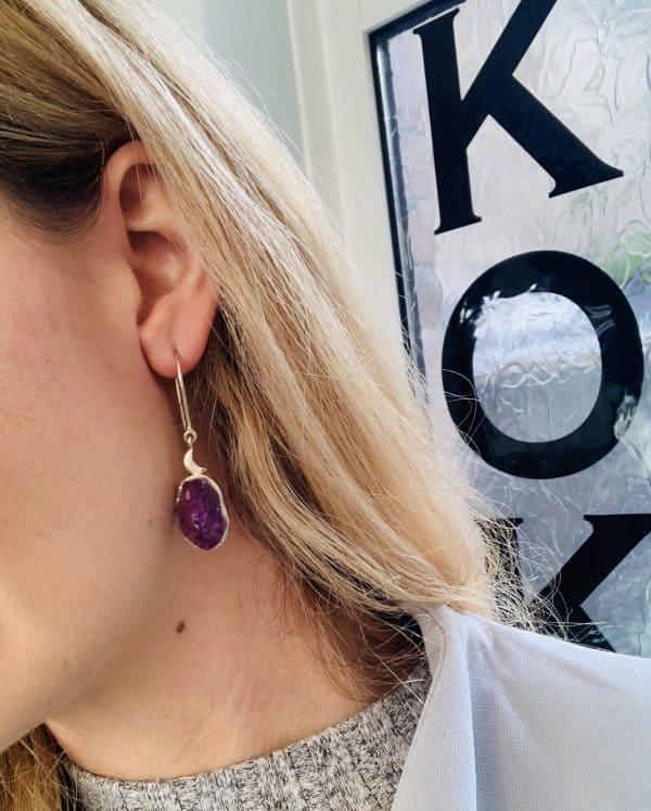 Amethyst earrings model
