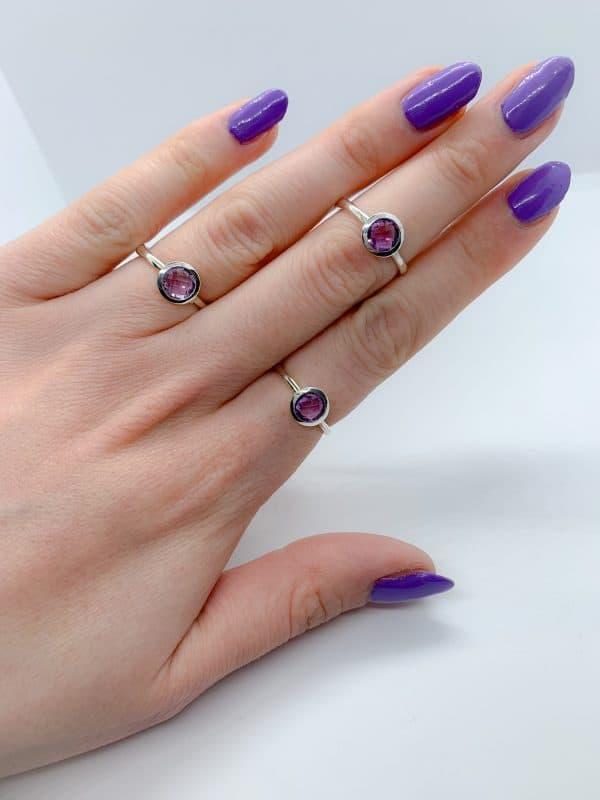 amethyst ring hand
