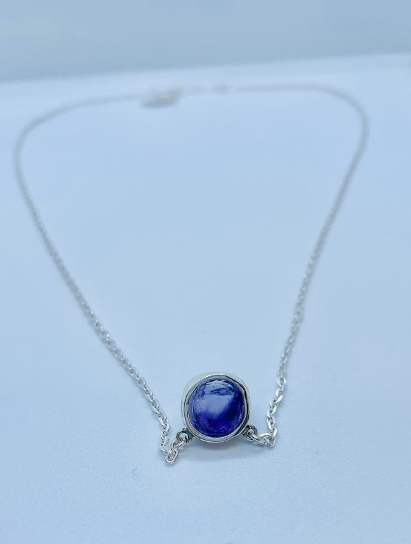 amethyst necklace back